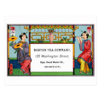 19th C Boston Tea Company Postcard
