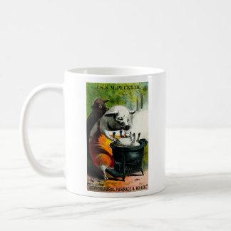 19th C. Cannibal Pigs Coffee Mug