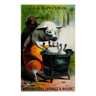 19th C. Cannibal Pigs Posters