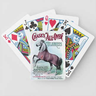 19th C. Chase Horse Blankets Bicycle Playing Cards