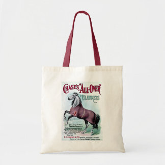 19th C. Chase Horse Blankets Budget Tote Bag