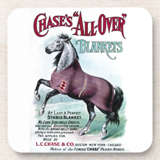 19th C. Chase Horse Blankets Drink Coasters