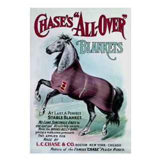 19th C. Chase Horse Blankets Poster