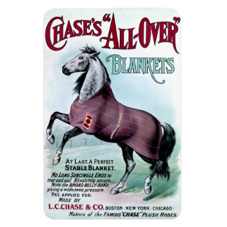 19th C. Chase Horse Blankets Rectangular Photo Magnet