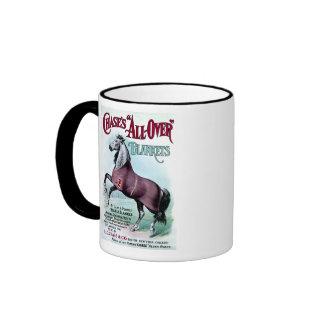19th C. Chase Horse Blankets Ringer Coffee Mug