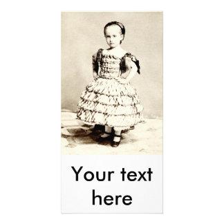 19th C. Defiant Little Girl Card