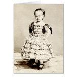 19th C. Defiant Little Girl Cards