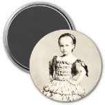 19th C. Defiant Little Girl Fridge Magnet