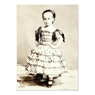 "19th C. Defiant Little Girl 5"" X 7"" Invitation Card"