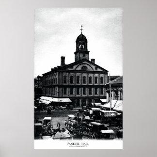 19th C. Fanueil Hall, Boston Massachusetts Poster