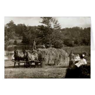 19th C. Farmers at Work Card