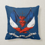 19th C. French Patriotism Throw Pillows
