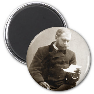 19th C. Gent reading a letter 2 Inch Round Magnet
