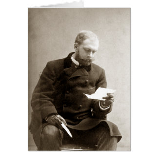 19th C. Gentleman reading a letter Card