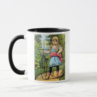 19th C. Girl and her Tricycle Mug