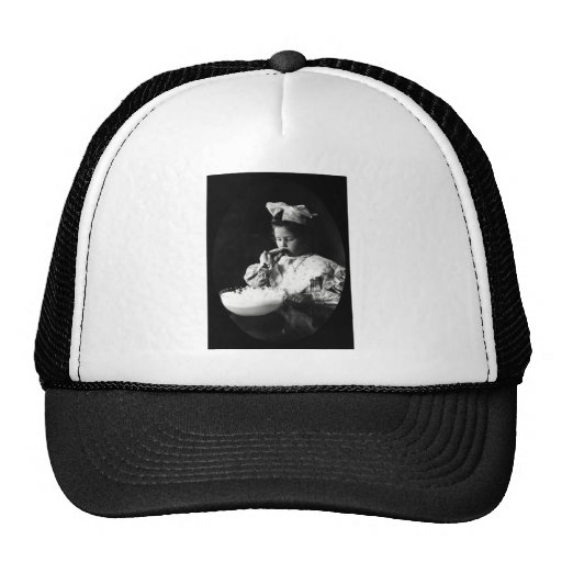 19th C. Girl Blowing Soap Bubbles Trucker Hats
