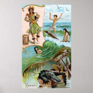 19th C. Hawaii Print