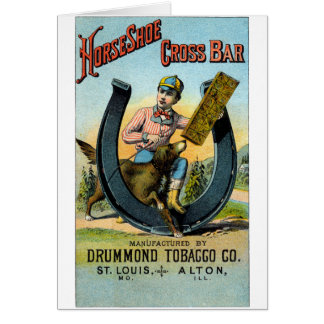 19th C. Horseshoe Cross Bar Chew Card