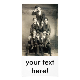 19th C. Human Pyramid Card