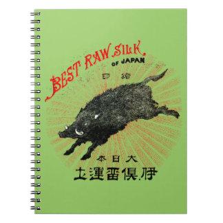 19th C. Japanese Silk Notebooks