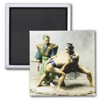 19th C. Japanese Wrestlers Magnet