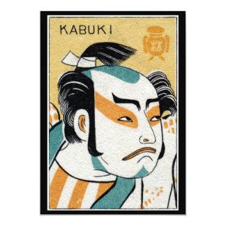"""19th C. Kabuki 5"""" X 7"""" Invitation Card"""