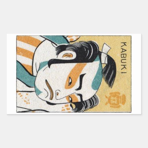 19th C. Kabuki Rectangular Sticker