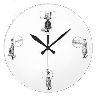 19th c. Ladies of Physical Culture clock