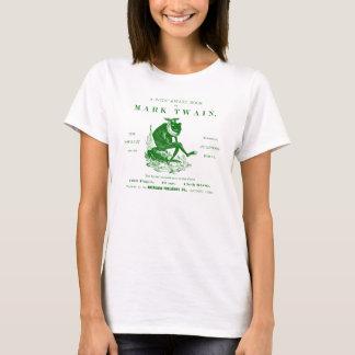 19th C. Marks Twains Jumping Frog, green T-Shirt