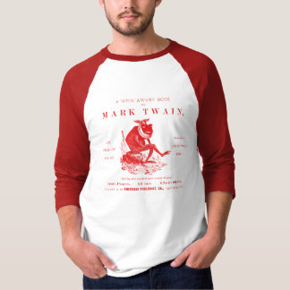 19th C. Marks Twains Jumping Frog, red T-Shirt