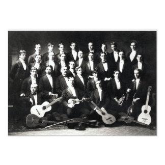 19th C Mens Musical Group Card