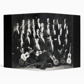 19th C Mens Musical Group Vinyl Binders