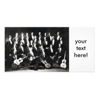 19th C Mens Musical Group, your text here! Card