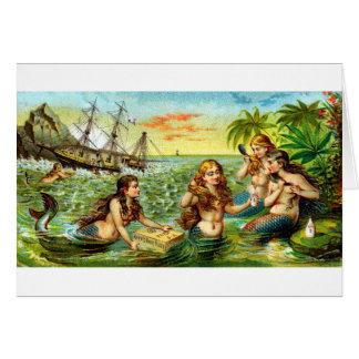 19th C. Mermaids Card