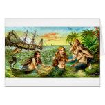 19th C. Mermaids Greeting Card