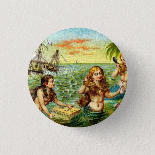 19th C. Mermaids Pinback Button
