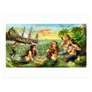 19th C. Mermaids Postcard