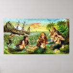 19th C. Mermaids Poster