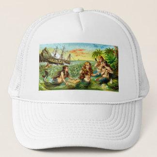 19th C. Mermaids Trucker Hat