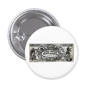 19th C New York Saloon Bank Note Button