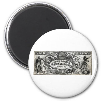 19th C New York Saloon Bank Note Refrigerator Magnet