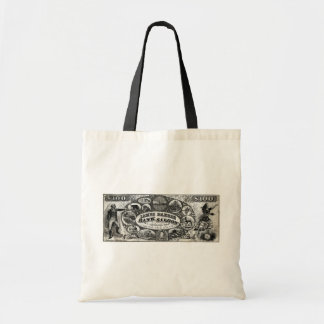 19th C New York Saloon Bank Note Tote Bags