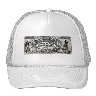 19th C New York Saloon Bank Note Trucker Hat