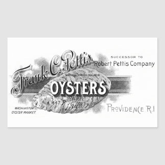 19th C. Oysters, black Rectangular Sticker