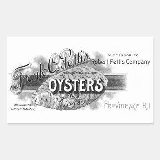 19th C. Oysters, black Rectangular Sticker