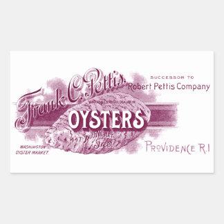 19th C. Oysters, purple Rectangular Sticker