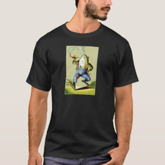 19th C. Pipe Smoking Frog T-Shirt