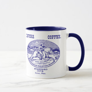 19th C. Revere Coffee of Boston, blue Mug