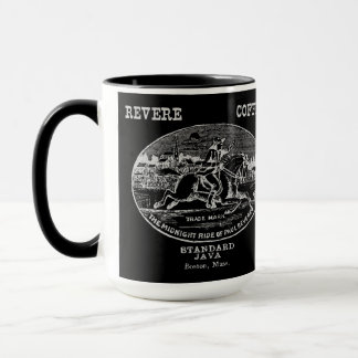 19th C. Revere Coffee of Boston, gray Mug