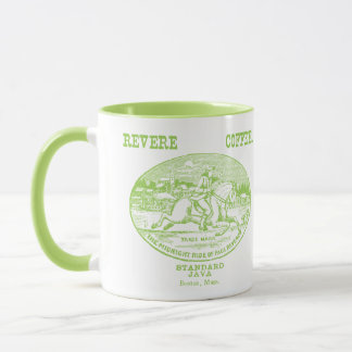 19th C. Revere Coffee of Boston, green Mug